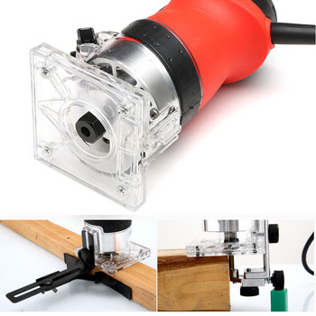 220V 800W Electric Laminate Edge Hand Trimmer Mini Wood Router 6.35mm Collet Carving Machine Carpentry Woodworking Power Tools