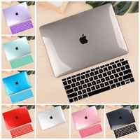 "Для Macbook Air retina 11 12 13,3 ""кристально чистый чехол для Macbook Air Pro 13 15 Touch Bar/Touch ID 2019 A1932 A2159 A1990"