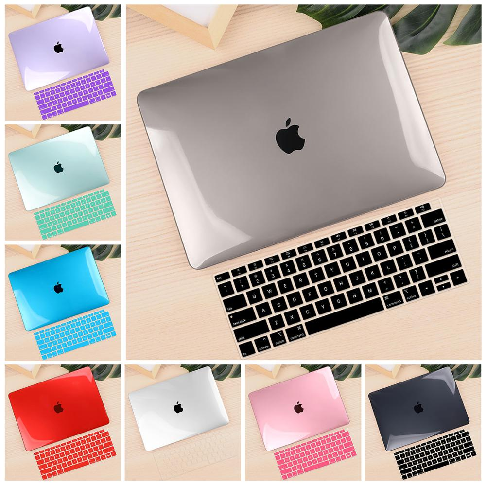 For Macbook Air Retina 11 12 13.3 Crystal Clear Cover for Macbook Air Pro 13 15 Touch Bar/Touch ID 2019 A1932 A2159 A1990 image