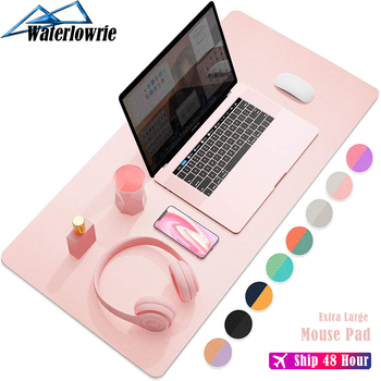 double side portable large mouse pad gamer pu leather mouse pad gaming office desk mat computer mousepad keyboard table cover 900x400 Extra Large Gaming Mouse Pad Gamer Keyboard Mousepad Double-side PU Maus Pad Waterproof Desk Mat Game accessories
