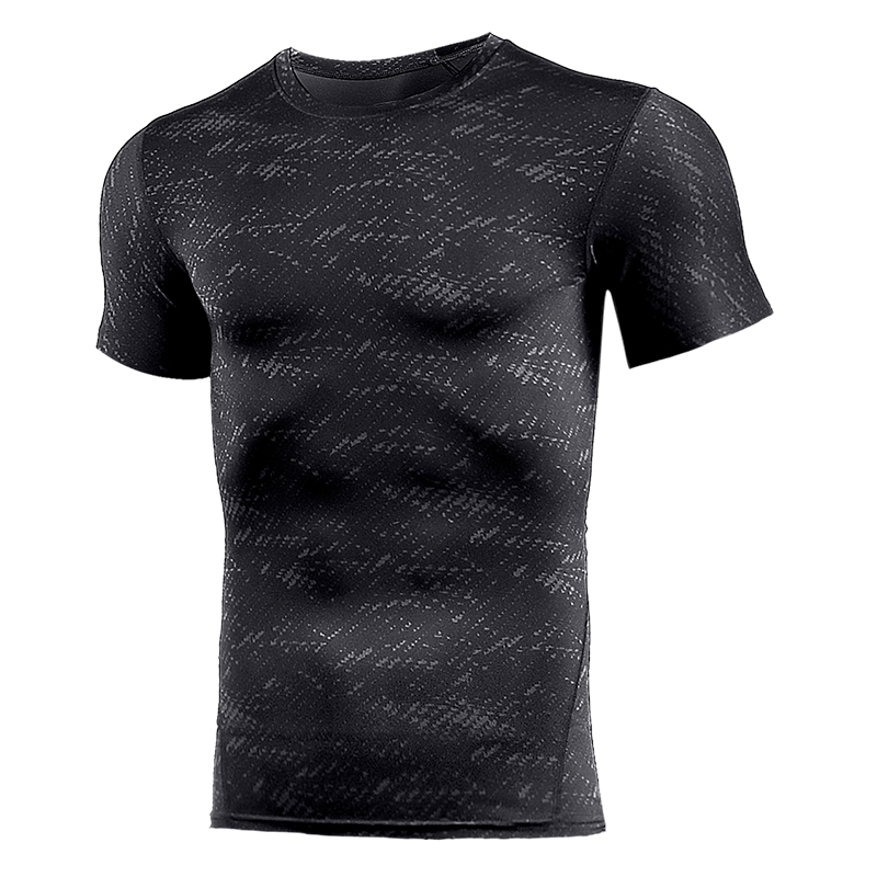 Compression T Shirt Workout Sport Running T-shirt Short Jogging Tshirt Men Fitness Jersey Rashgard Gym Athletic Tops Clothing