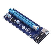 60cm USB3.0 PCI E Riser כרטיס SATA 15Pin זכר 4Pin כוח 1Xto 16X PCIe Extender מקצועי כריית כלי עבור bitcoin כורה 006