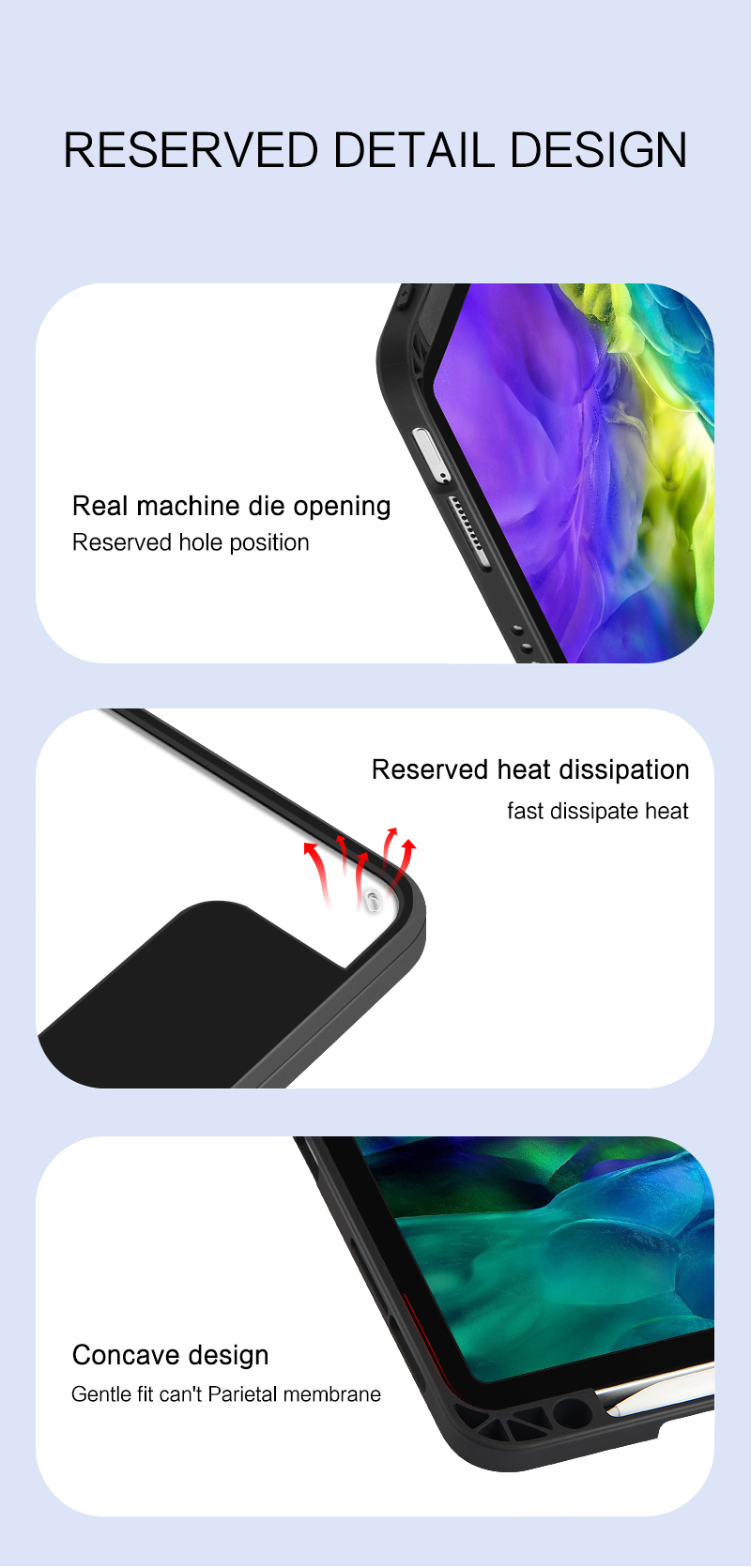 2018 Wake Smart IPad 2020 12.9 for Sleep Pen Pro Auto A2379 Magnetic Cover Slot A2460 A2461 Case A2301 Up Function 2021 Funda 11