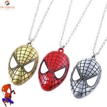 Super heros aranha máscara pingente colar moda punk jóias presentes para meninos mans festa colares