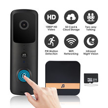V30 1080P Smart WiFi Video Doorbell w/ 32Gb TF Wireless Home Security Camera 2 W