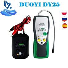 Duoyi dy25 automotivo short & open circuit finder testador cabo rastreador ferramenta de reparo do carro tracer diag 2 cabos de fio tipo pk em415pro