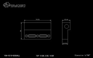 Image 5 - Bykski VGA XS18 QSQUALL, Change Direction L type GPU Block Bridge, Acrylic Bridge, For Bykskis GPU Water Block Refit