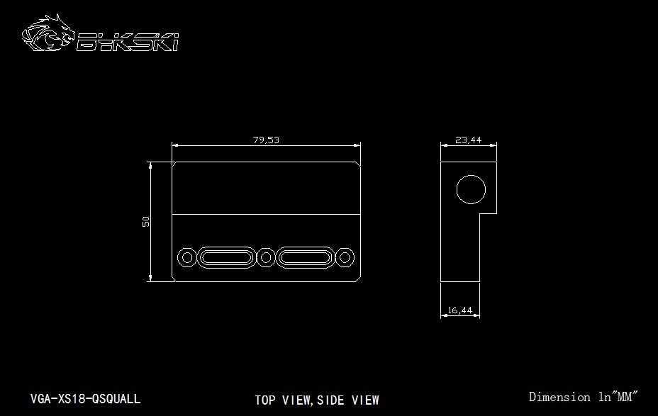 Bykski VGA-XS18-QSQUALL, cambio de dirección tipo L bloque para puente GPU, puente acrílico, para Reajuste de bloque de agua GPU de Bykski