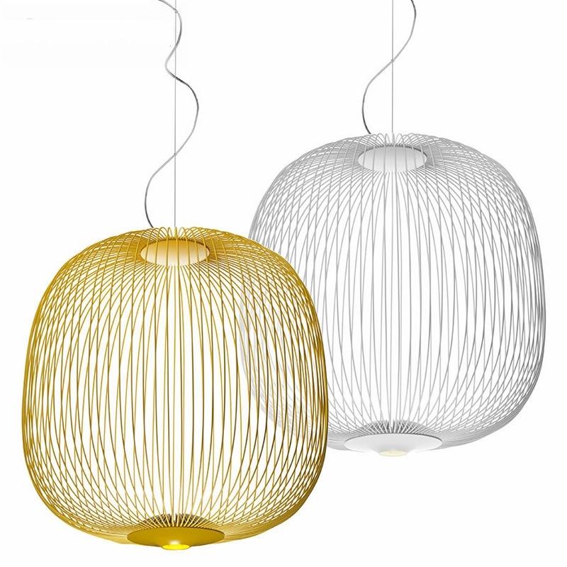 Современные светодиодные подвесные светильники, Скандинавский дизайн, подвесной светильник, лофт, промышленная подвесная клеть, светильни