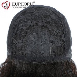Image 5 - Ombre Brown 30 Kinky Curly Human Hair Wigs Brazilian Remy Hair Full Machine Made Wigs With Bangs Natural Color Wigs Euphoria