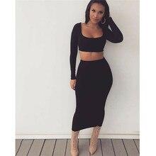 Office Midi Pencil Skirt Stretch Bodycon Tube Womens Ladies Plain Plus Size