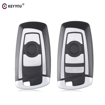 KEYYOU Replacement Smart Remote Key Shell FOB housing case Uncut Blade For BMW 1 3 5 Series F10 F20 F30 F40 Auto Car Key Case image