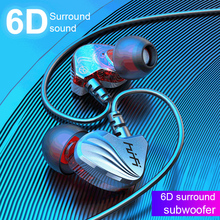 Super 6D Stereo Wired Headphone With Microphone Deep-Bass Sport Earphone With Mic Gaming Headset For Apple Phone PC Laptop Gamer цена 2017
