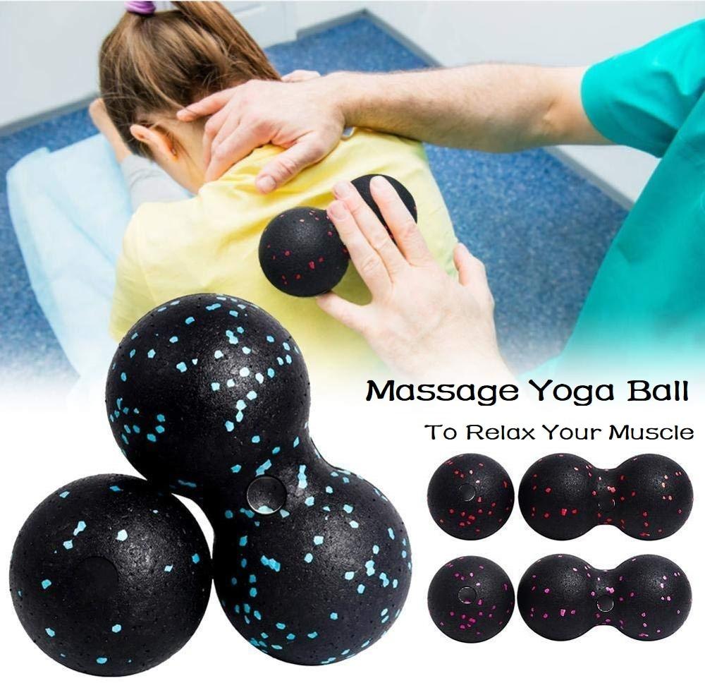 EPP Лакросс Мячи миофасции арахисовый Массажный мяч высокая плотность легкий фитнес тело фасции упражнения облегчить боль йога мяч