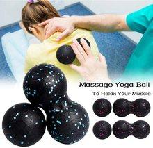Epp lacrosse miofascia bola de massagem amendoim alta densidade leve fitness corpo fáscia exercício aliviar a dor yoga bola