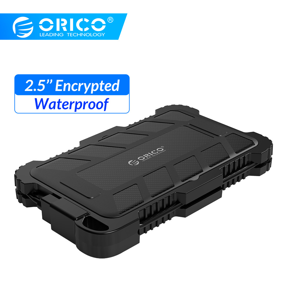 ORICO 2.5 Inch SATA To USB 3.0 Encrypted Hard Drive Enclosure Waterproof Shockproof Dustproof HDD Case UASP Encrypted HDD Box