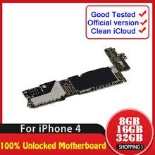 TDHHX 8 ГБ/16 ГБ/32 ГБ для iPhone 4 материнская плата, полностью Рабочая разблокированная материнская плата для iPhone 4 материнская плата с полными чипами