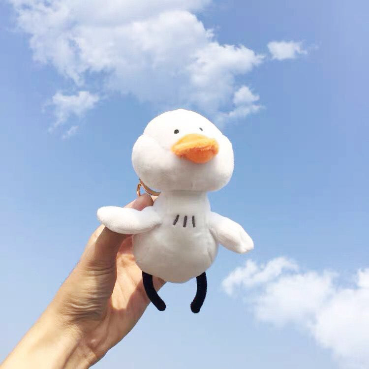 Cute Duck Plush Toy Stuffed Soft Kawaii Duck Doll Animal Birthday Gift for Kids Children Xmas Bag Keychains Schoolbag Ornaments