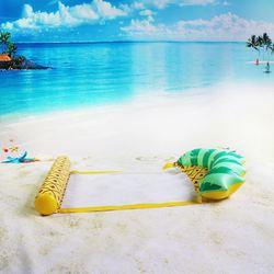 Водное плавающее кресло-поплавок для бассейна плавающий гамак воды завышенные постельная Подушка Матрац вечерние забавная игрушка лениво...