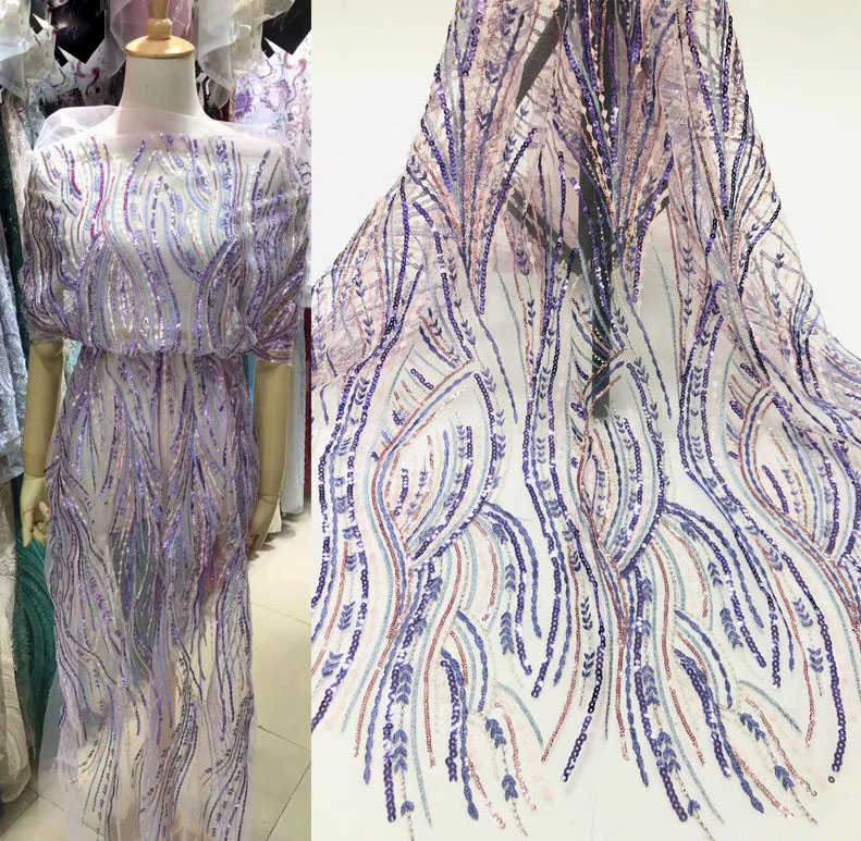 French Fresh Fireworks Display Catwalk Fashion Design Evening Dress Lace Wedding Dress Lace Green Lace Fireworks Design Lace