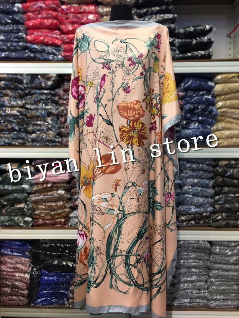 Длина платья: 130 см Обхват груди: 130 см 2020 новые модные платья Bazin с принтом Дашики женское длинное платье/платье Yomadou цветной узор оверсайз Африканская одежда    АлиЭкспресс