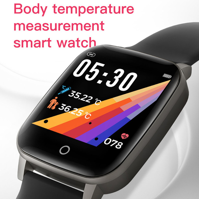 Sports Fitness Temperature Measurement Wristband Smart Watch For Android And iOS 2020 Pedometer Men Women Smartwatch 5