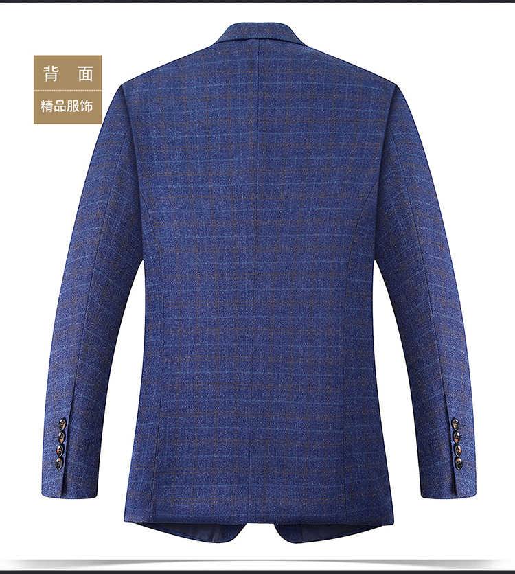 8XL 6XL 5XL 4XL Primavera-Autunno degli uomini casual Suit Blazer Slim Fit Giacca da Uomo casual di Affari gli uomini di Cotone del Cappotto Della Tuta Sportiva