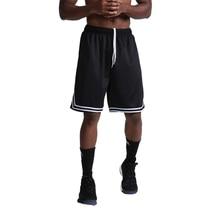 Тонкие мужские баскетбольные полосы тренировочные повседневные шорты бег спорт шорты мужские тренажерный зал фитнес бодибилдинг шорты брюки лето