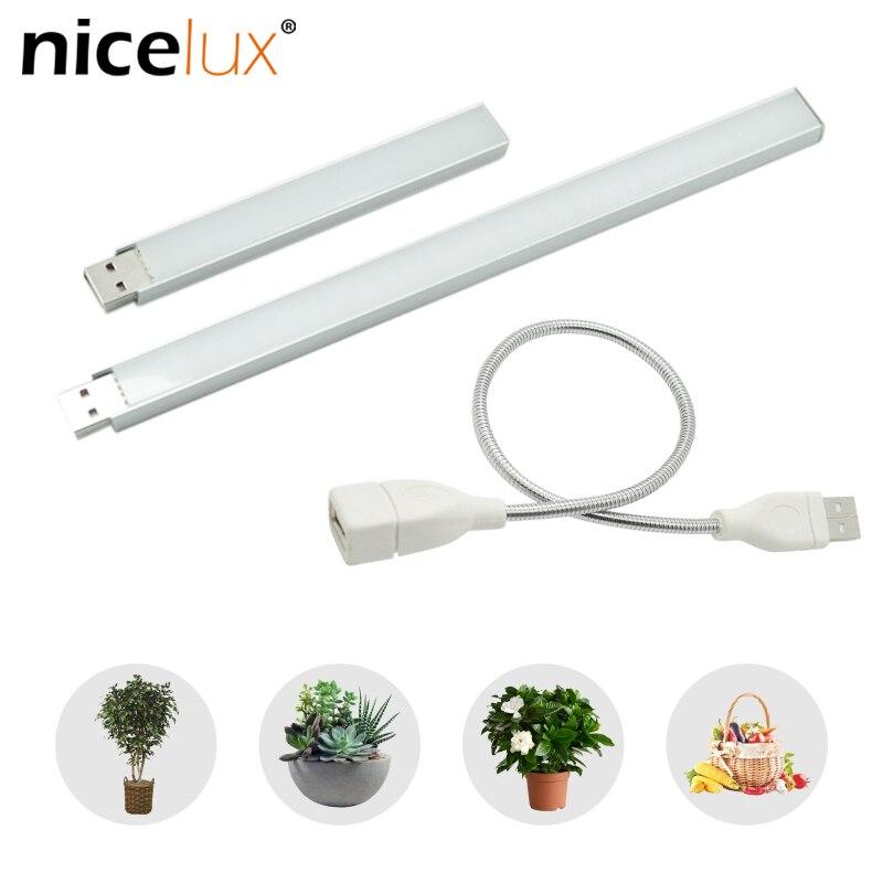 USB Led Grow Light Full Spectrum 3W/ 5W 14LEDs/27LEDs Flexible Fitolamp Phyto Lamp For Desktop Plant Flower IR UV Growing DC 5V
