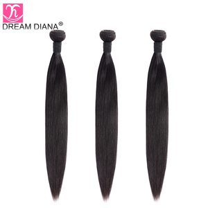 "Image 3 - DreamDiana Indian Hair Straight 1/3/4 Bundles 8 30"" Remy Weaving Hair Bundles Natural Color 100% Human Hair Extensions Low Ratio"