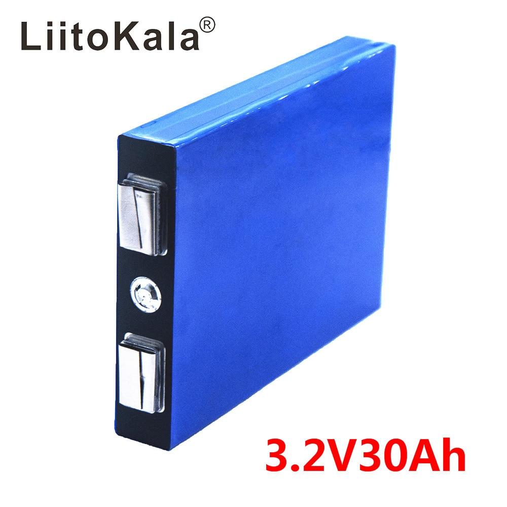 LiitoKala LiFePo4 3.2V 30AH 5C Battery 3.2V Lithium Bateria For Diy 12V Lifepo4 E-bike E Scooter Wheel Chair AGV Car Golf Carts