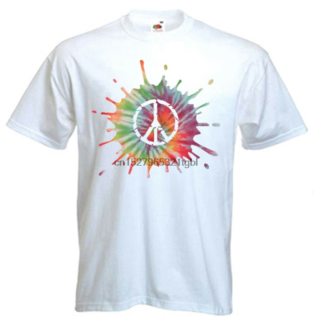 Imagine T-SHIRT 1960S 1970S Retro Hippy Flower Power Peace Gift birthday funny