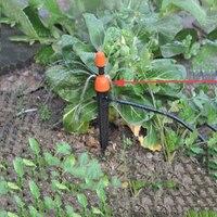 Kits de rega automáticos da mangueira do jardim da planta do auto do sistema dos jogos de nebulização ajustáveis da irrigação do gotejamento do micro-fluxo 10/20m
