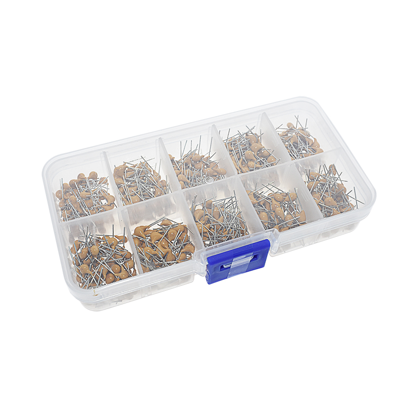 EQV 500pcs/lot 10Values*50pcs 0.1uF-<font><b>10uF</b></font>(104~106) <font><b>50V</b></font> Multilayer Ceramic Capacitors Assorted Kit Assortment Set with Storage Box image