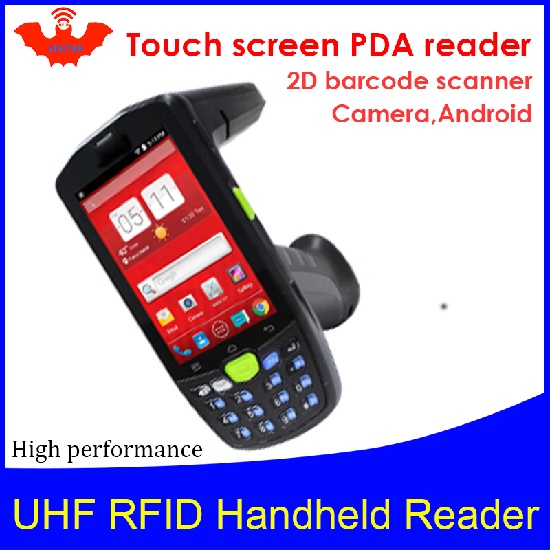 UHF RFID Handheld Reader 4G PDA Portable Encoder EPC C1G2 ISO18000 6c Mobile Phone Chip Tag 2D Image Scanner Writer Copier