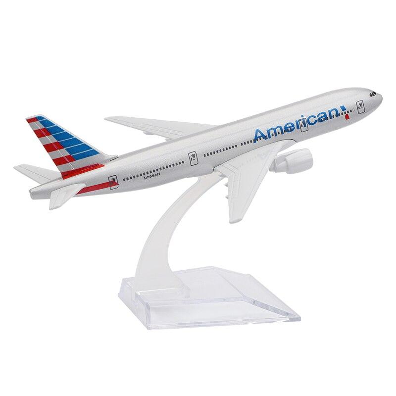 Old American Die-Cast Vehicles Boeing 777 16cm Metal Airplane Models Birthday