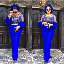 2020 ostatnie francuska nigeryjska koronkowe tkaniny wysokiej wysokiej jakości tiul tkanina z afrykańskiej koronki dla koronki ślubne 3 jardy W002 royal blue