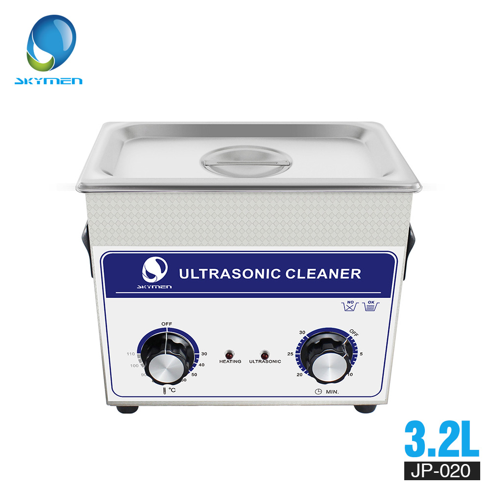 SKYMEN Ultrasonic Cleaner 3l Industry  Cleaner 3.2L 120W 110/220V Cleaning Solution For Circuit Borad Metal Parts Tableware