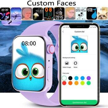 CHYCET IWO Watch 7 Smartwatch Smart Watch Men Women DIY Face Fitness Tracker Watch For Xiaomi Huawei PK DT100 IWO 13 Pro 2021 4