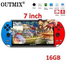Outmix x12 mais jogo de vídeo 7 polegada lcd duplo balancim portátil handheld retro game console vídeo mp5 jogador cartão tf para 3000 jogos