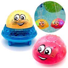 Игрушки для ванной брызг воды светильник музыка вращающийся мячик детские игрушки для детей ясельного возраста, Ванная комната летние игры