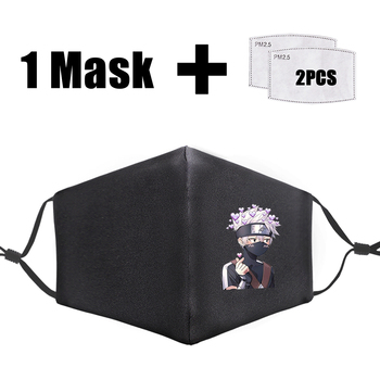 Cartoon Naruto Printing Mask Reusable Pm2.5 Filter Mouth Mask Dust Windproof Mouth-Muffle Bacteria Proof Flu Face Mask