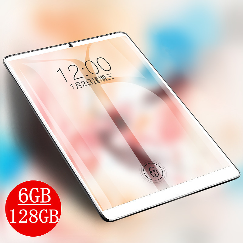 10.1 Inch IPS 1920*1280 Tablet 3G 4G LTE Dual SIM Card Tablet PC Octa Core 6GB RAM 128GB ROM Tablets Android 7.0 Bluetooth GPS