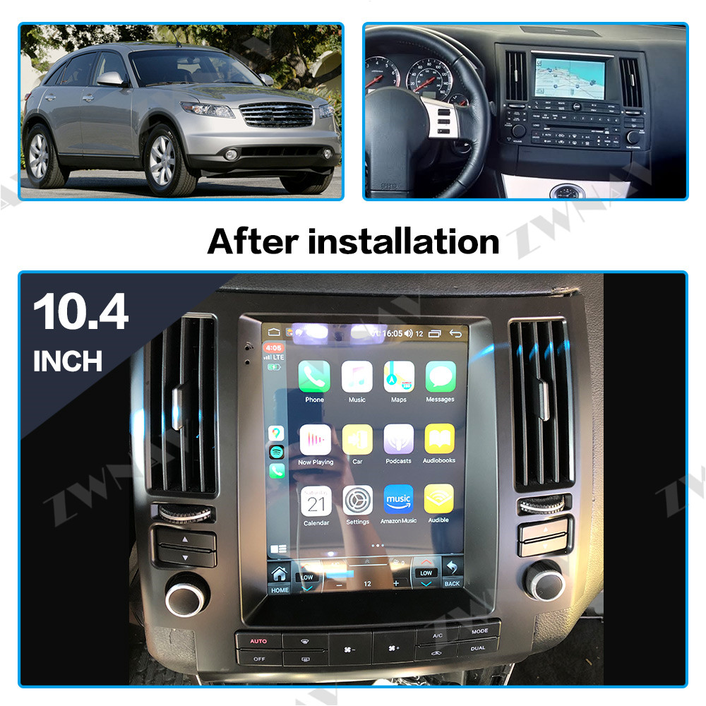 Tesla Style Big Screen Android 8.1 Car Multimedia Player For Infiniti FX FX35 FX45 2003-2009 Navi WiFi BT Radio Stereo Head Unit