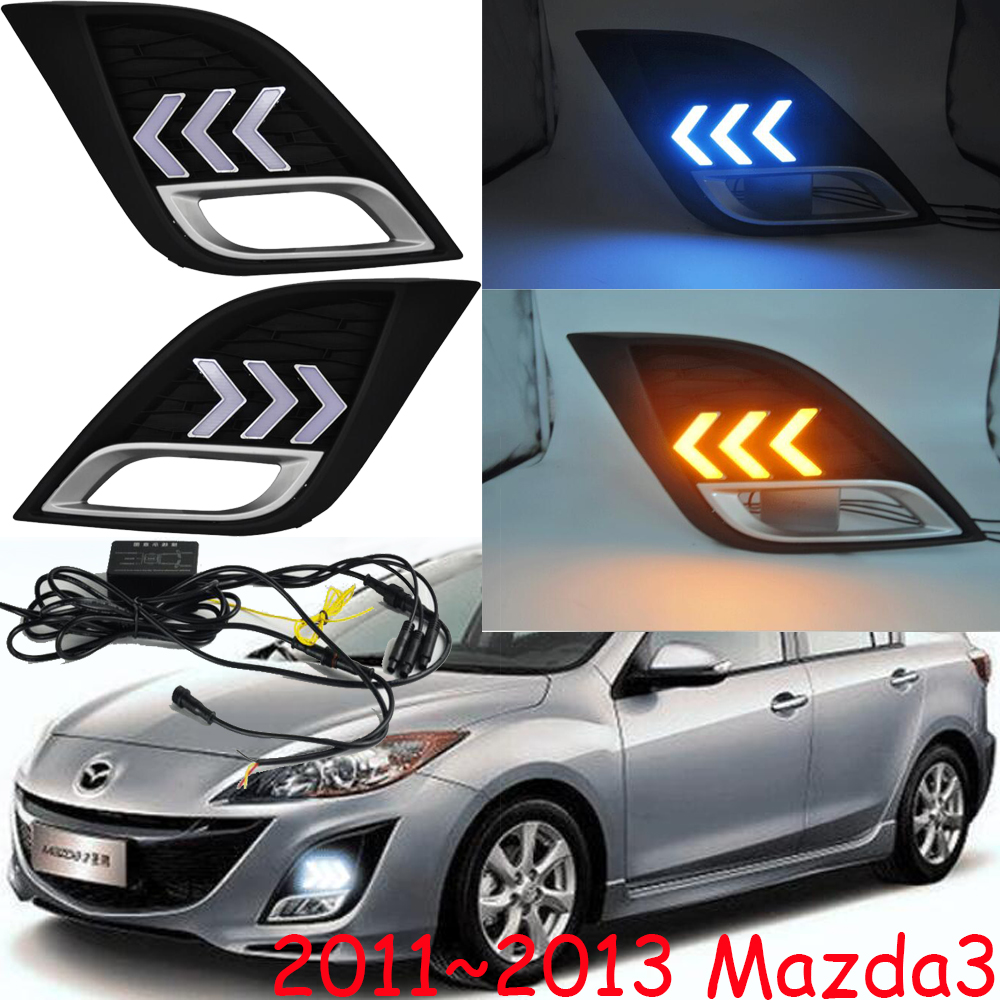 2011 <font><b>2012</b></font> 2013y car bupmer head light for mazda3 <font><b>mazda</b></font> <font><b>3</b></font> headlight car <font><b>accessories</b></font> LED DRL HID xenon fog for mazda3 headlamp image