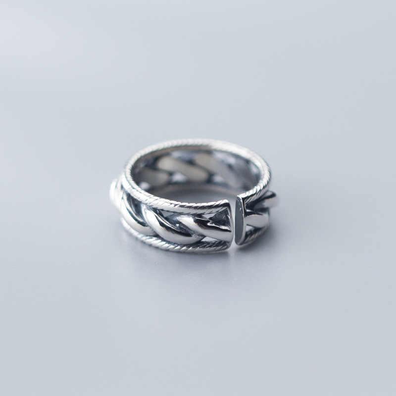 925 Серебряные кольца в стиле панк, рок ювелирные изделия минимализм Шарм Анель Богемия ювелирные изделия Винтаж Bague Femme Anelli кольца для женщин