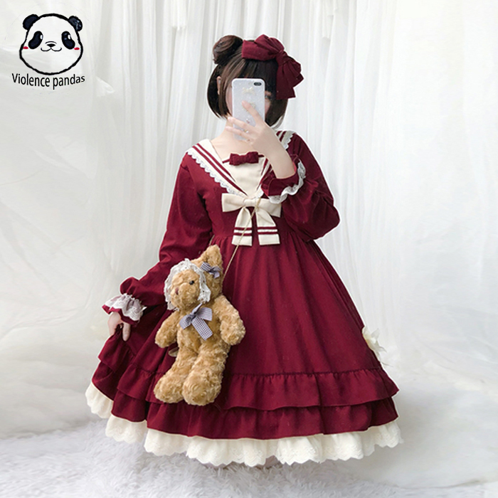 2020 Spring  Summer Sweet Anime  Cosplay Lolita Dress  JSK Carousel  Tea Party Clothes Lace Dress Maid Costume  Princess Dress