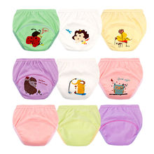 Washable Baby Training Panties Reusable Cloth Nappy Baby Cloth Diaper Cover Waterproof Cartoon Baby Diapers  Suit for 1-6Y NP006