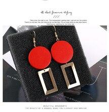 2019 Women Earring Trendy Luxury Big Red Earrings Statement Vintage Geometric Earings Fashion Jewelry Summer Accessories