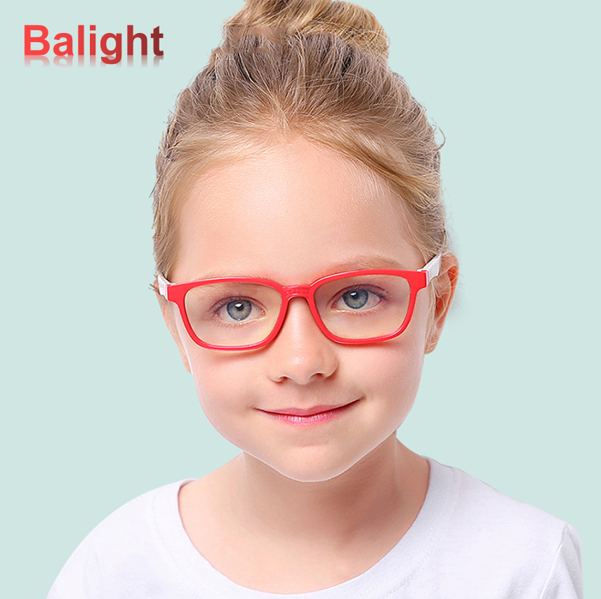 Baby Bendable Silicone Anti-blue Light Optical Glasses Flexible One-piece Safe Eyeglasses Plain Mirror Goggles Eyewear Frame